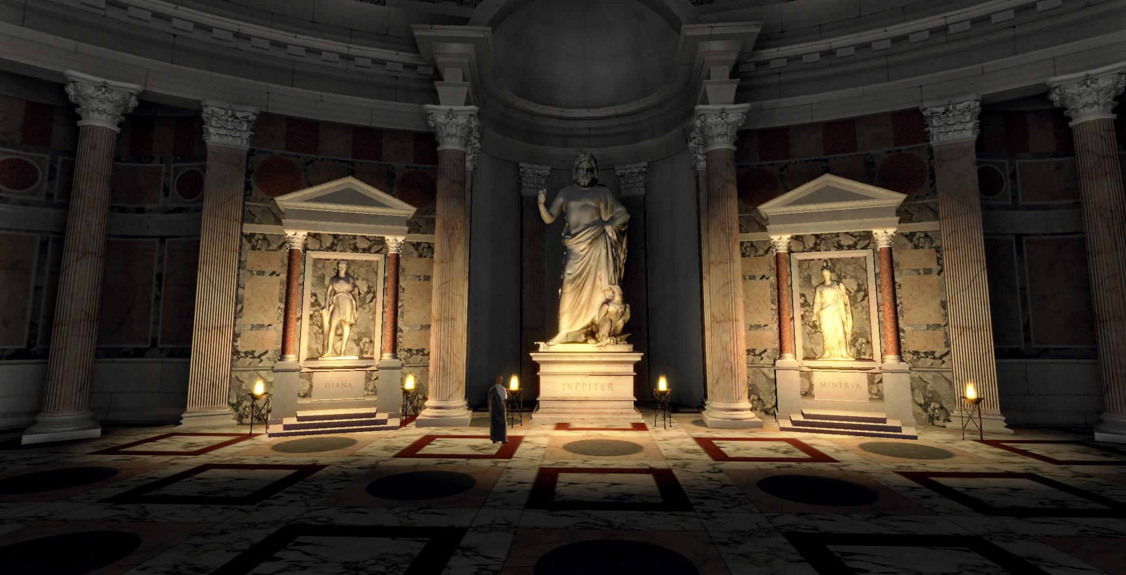 Virtual Roman Pantheon In Blue Mars Cryengine Idia Lab